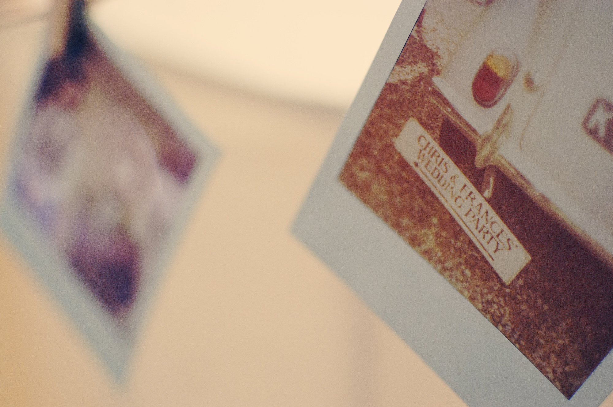 Polaroids Wedding