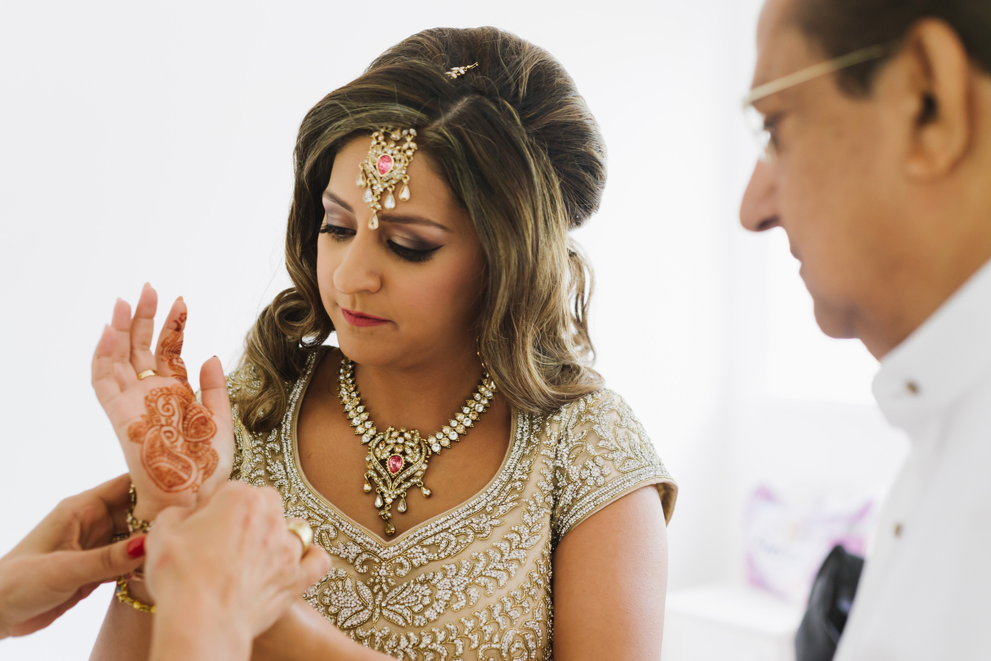 Indian Wedding Bride Getting Ready Sari Solihull