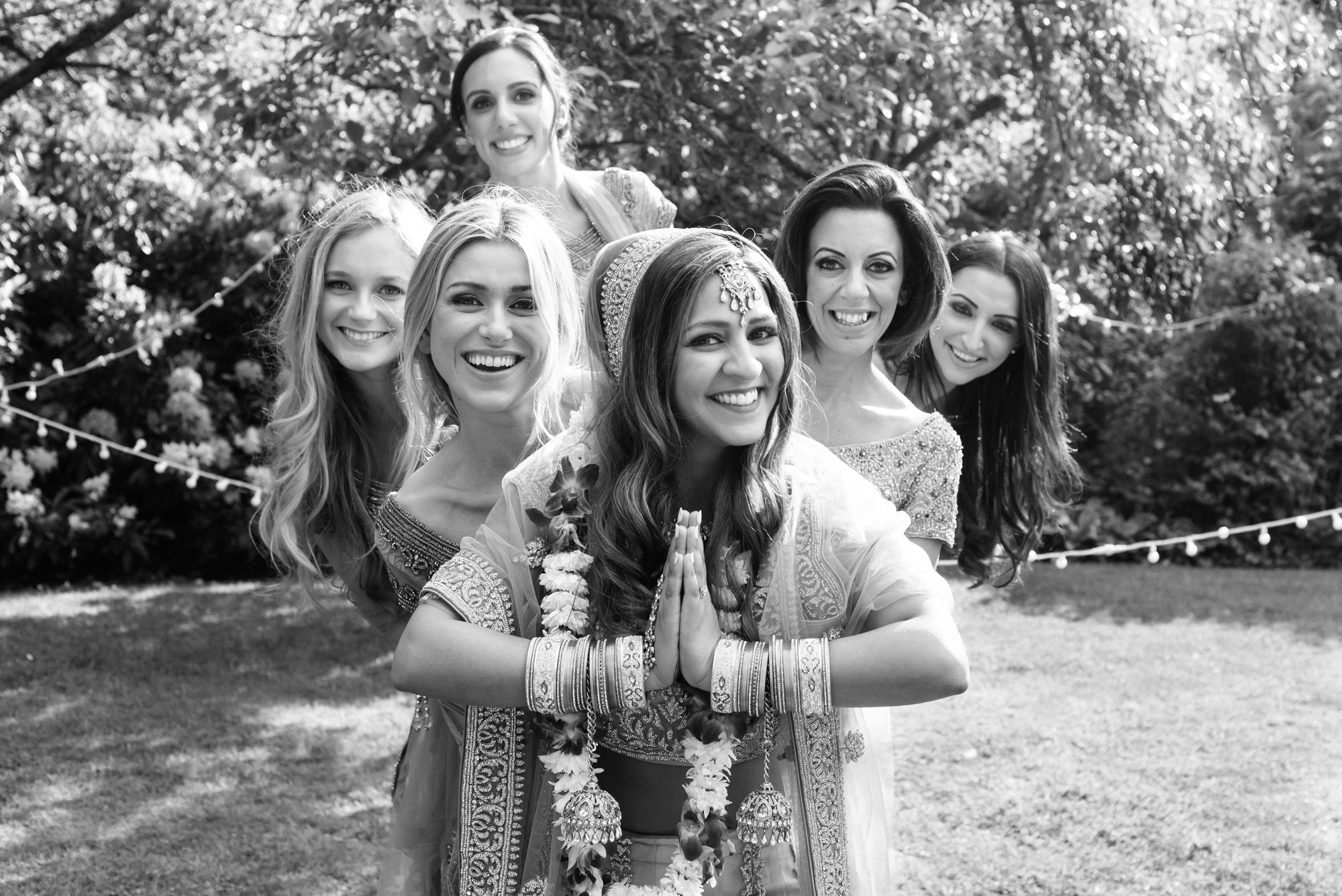bride bridesmaids indian wedding solihull