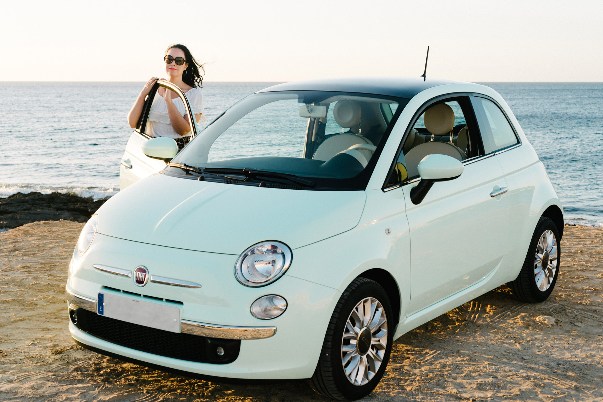 Spearmint-FIAT-500-Ibiza-Beach
