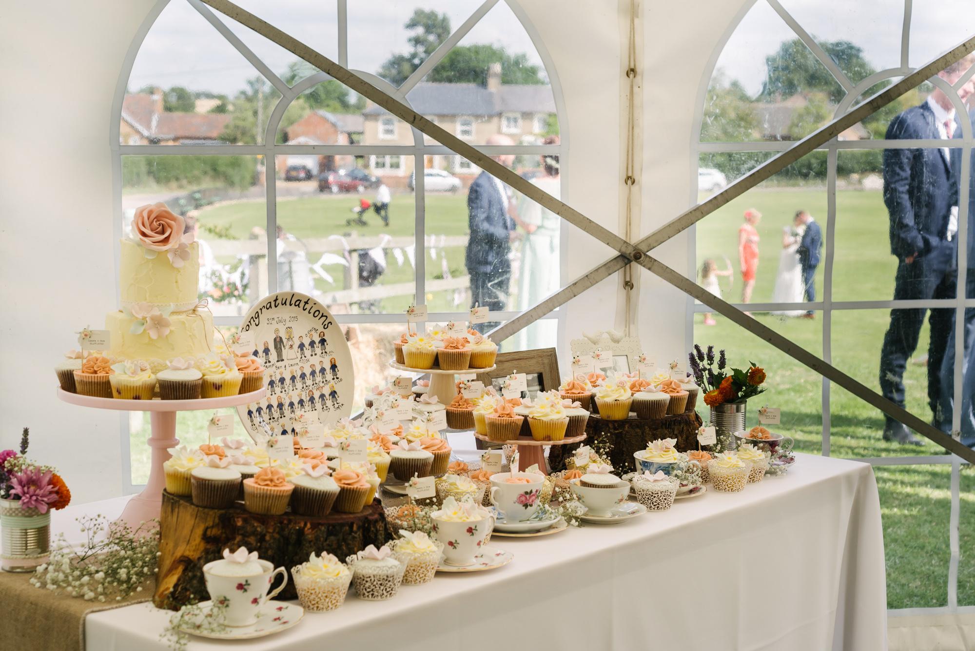 Cricket Club Wedding Tea Party Eversholt Bedfordshire-43