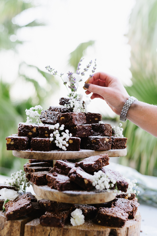 LoveFoodIbiza Wedding Dessert Brownie Tower