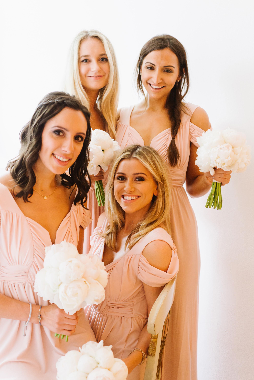 bride and bridesmaids arriving at banqueting house london