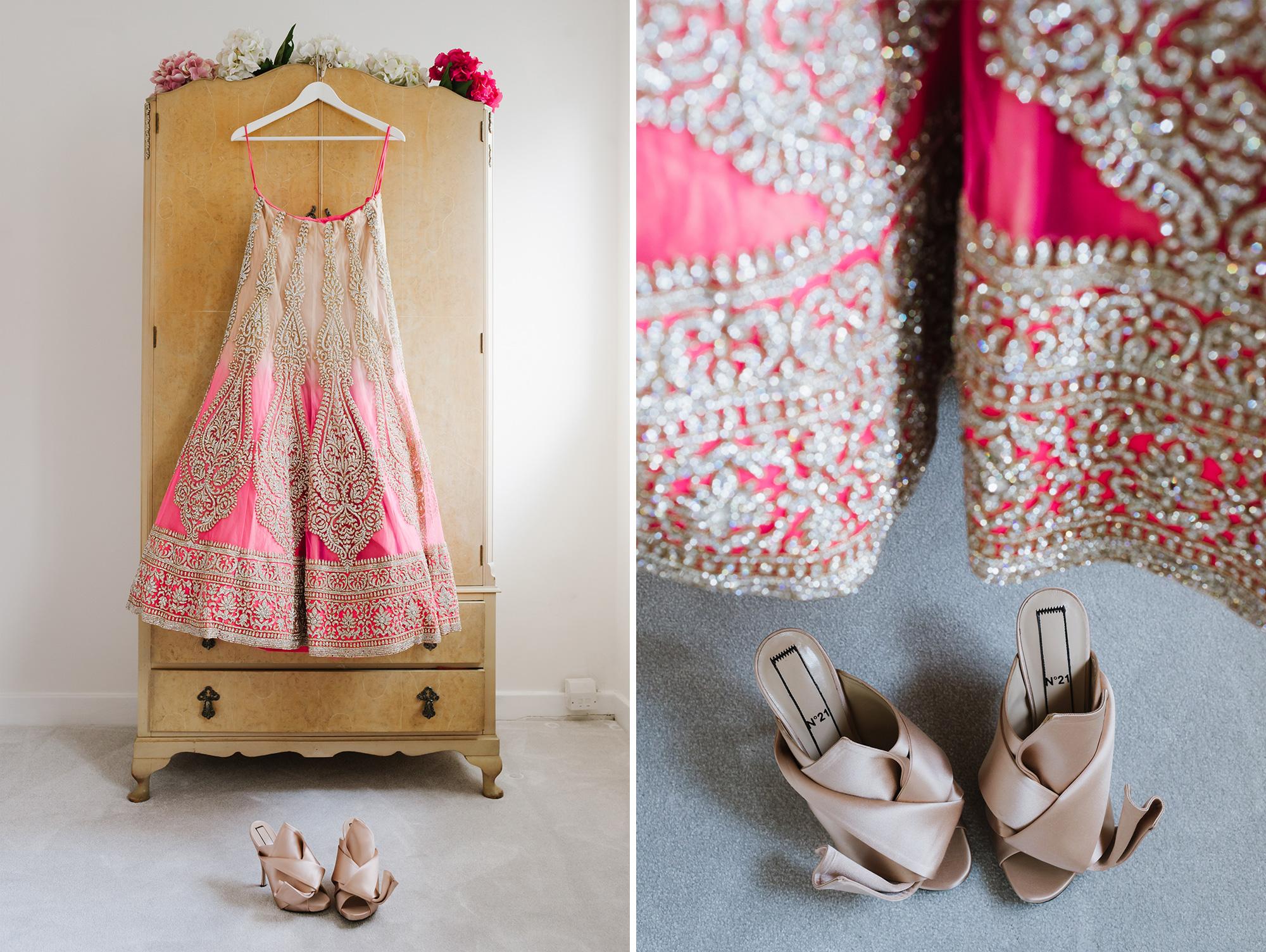 Indian Wedding Bride Getting Ready Sari Solihull