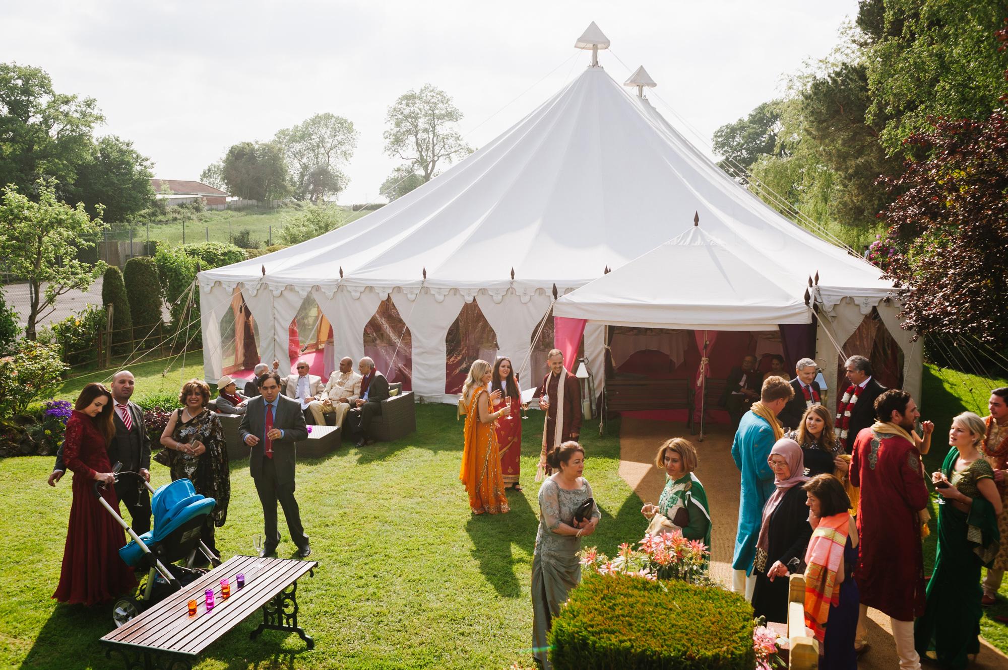 indian garden wedding solihull