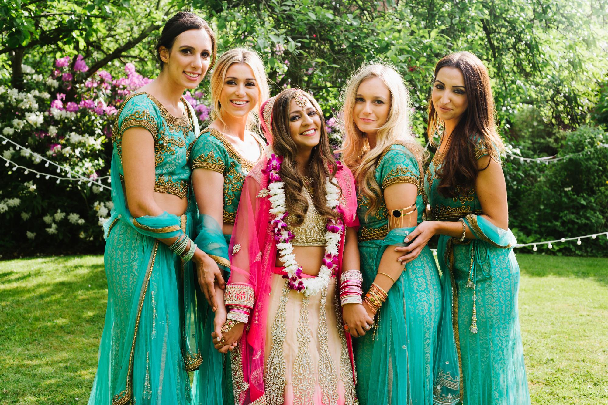 bride bridesmaids indian wedding solihull