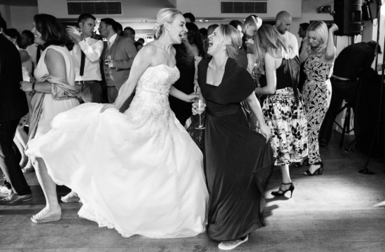 bride bridesmaid dancing ibiza wedding